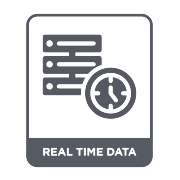 Icon: Real time data